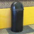 Rubbermaid Black 25 Gallon Commercial Dome Top Garbage Trash Bin