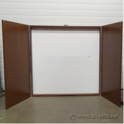 Medium Maple 48 x 48 Enclosed Egan Magnetic White Board