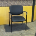 Brylee Black Stacking Guest Side Chair with Arms
