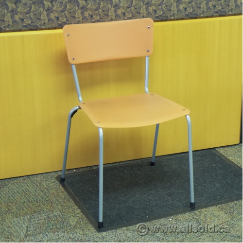 Keilhauer Gym Orange Stacking Lunchroom Classroom Chair