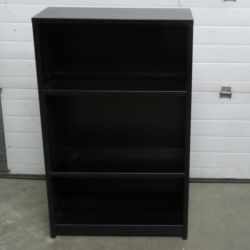 Black Wood Bookshelf Bookcase 3-Shelves 36x12x48""