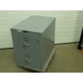 Fire King Grey 2 Drawer Fire Proof File Cabinet