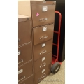 Sunar Brown 5 Drawer Vertical File Cabinet, Locking