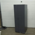 Grey 2 Door Teknion Wardrobe Storage  Cabinet