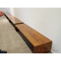 "Teknion 79"" Walnut Base Riser / Bench"