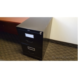 Global Black 2 Drawer Vertical File Cabinet, Locking