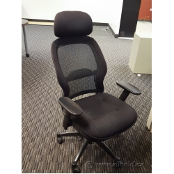 Black Mesh Back Task Chair with Head Rest