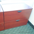Cherry 2 Drawer Lateral File Cabinet, Locking, Minor Damage