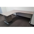 IKEA Galant Grey Woodgrain L Suite Desk