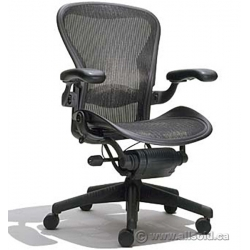 "Herman Miller Aeron ""C Size"" Black All Mesh Ergonomic Task Chair"