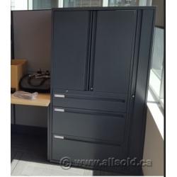 KI Grey 2 Door 3 Drawer Office Storage Solution Cabinet Wardrobe