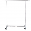 Metal Collapsible Rolling Garment Clothes Rack