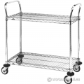 Metro 36x18 Two Shelf Standard Duty Stainless Steel Utility Cart