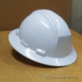 Lot of 6 White Class E Adjustable Hard Hats