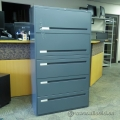 Boulevard 5 Drawer Lateral File Cabinet Grey