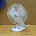 White Weatherworks Oscillating Desk Fan, 12-in
