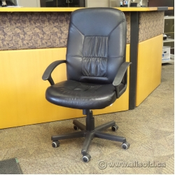 Black Leather Ikea Allak Adjustable Chair