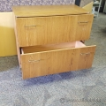 Light Colour Wooden 2 Drawer Filing Cabinet