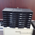 Black Storex 24 Compartment Literature Organizer