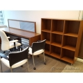 Teknion Solutions Solitaire Series Walnut Book Shelf