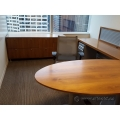 Teknion Solutions Solitaire Series Walnut Office Credenza