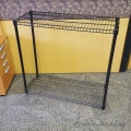 "Two Shelf Wire Shelving Unit - 36 x 14 x 34"", Black"