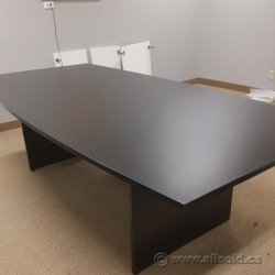 Dark Brown 8' Tapered Boardroom Table