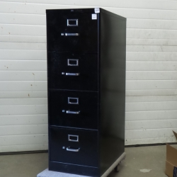 Black 4 Drawer Hon Vertical File Cabinet