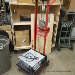 Red Server Stacker, Lift, Hand Winch Operated, MW 500