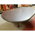Grey Racetrack Style Boardroom Meeting Table