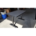 Grey Meeting Table w/ Black Legs 48 x 24 inch