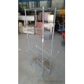Chrome Metal 4 Shelf Tube Leg Racking