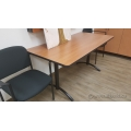 Gunnar Autumn Maple Meeting Work Table Black Legs