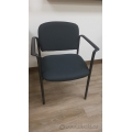 Black Cloth Guest / waiting chairs with arm