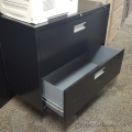 Black ProSource 36 in. 2 Drawer Lateral File Cabinet