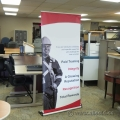 """Deluxe Roll Up Trade Show Display Stand w Case 84"""" x 32"""""""