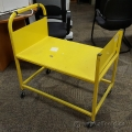 Yellow Metal Rolling Cart 360 Casters on 4 Corners