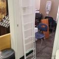 White Metal Garden Shelf Frame Posts for 4 Shelves