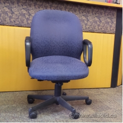 Steelcase Purple Patterned Adjustable Rolling Task Chair