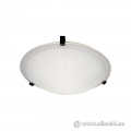 Flush Mount Light Fixture with Frosted Glass Shade
