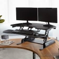 Black Height Adjustable Sit/Stand Cube Corner Varidesk