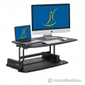 Black Height Adjustable Sit/Stand Pro 48 Varidesk