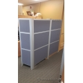 Artopex Panel Divider Systems Blue Cloth, Aluminum