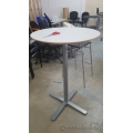 30 in Round White tall Table, Grey Base Bar bistro Ikea BILLSTA