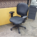 Black Fabric Adjustable Task Chair with Arms