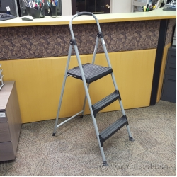 Cosco Three Step Big Step Folding Step Ladder W/ Rubber Grip