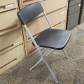 Black Office Star Resin Folding Chair