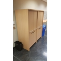 Millwork Blonde Dual Cabinet  with 4 Doors and 2 Drop Slots