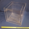 "Clear Display Acrylic Five Side Cube, Pair 10"" 12"""