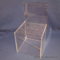 Clear Display Acrylic Cube Suggestion Box w/ Advertisement Space
